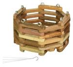 6 in wooden basket, with hanger