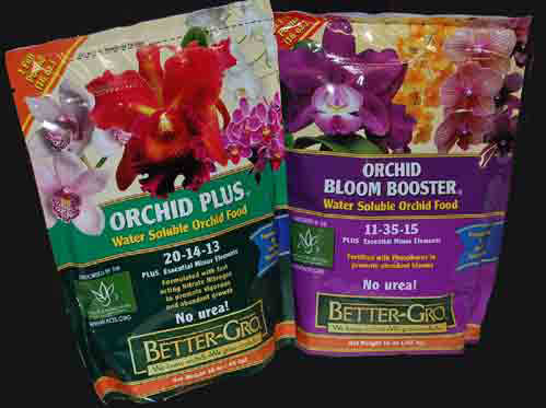 Urea Free Orchid Food, Orchid Plus  20-14-13 and Orchid Bloom Booster 11-35-15
